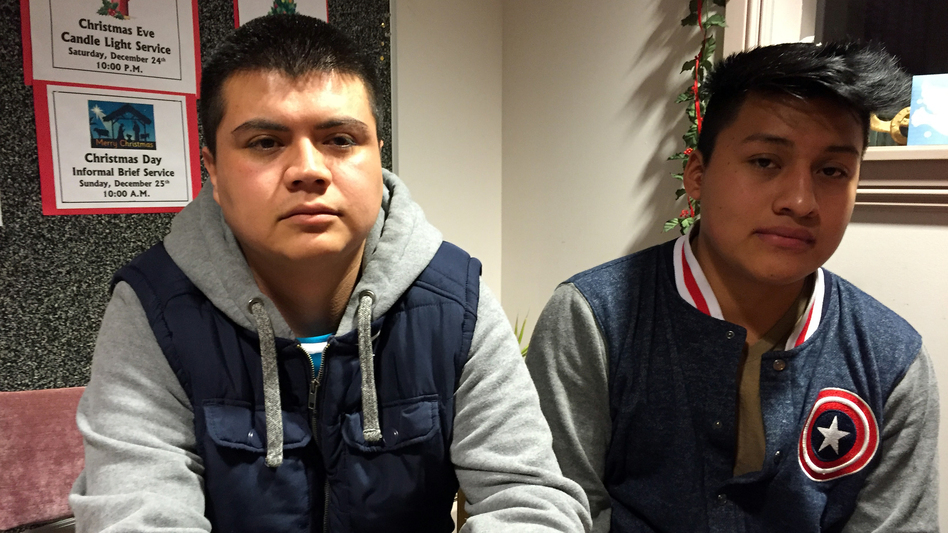 During one of the biggest immigration raids in recent years, ICE officers arrested Jose Antonio Ramos, 29 (left), a cook at a taco eatery and grocery store called La Divina, and Sergio Medellin, 19, a sous chef at Agave Mexican restaurant. They are facing deportation. (NPR)