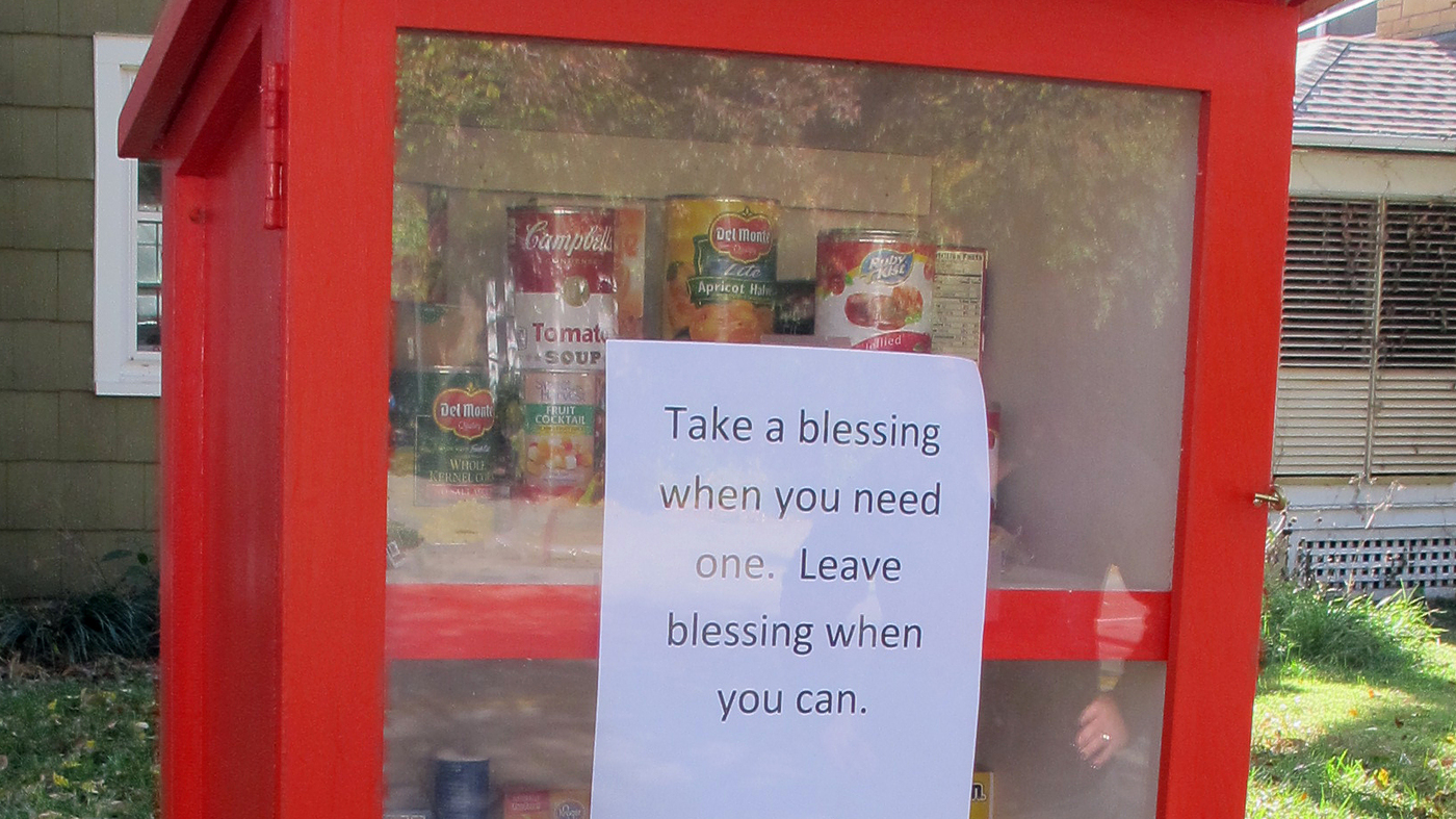 A New Type Of Food Pantry Is Sprouting In Yards Across America : The