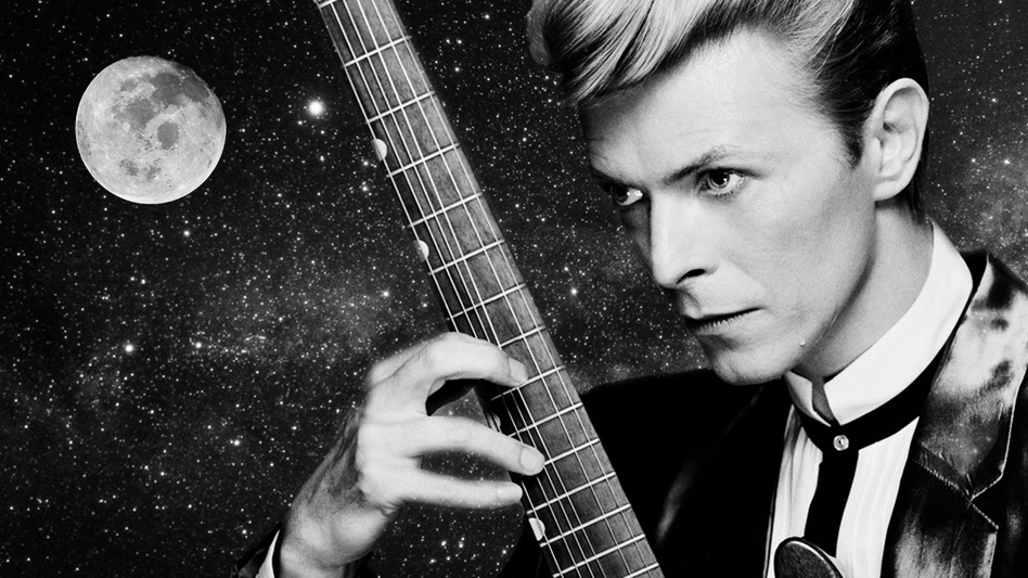 (Photo Illustration by NPR's Skunk Bear/David Bowie Image by Ron Fraizer)