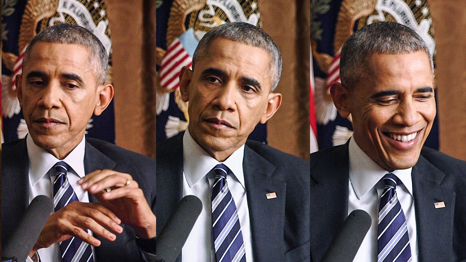President Obama will leave the White House later this month. (Colin Marshall/NPR)