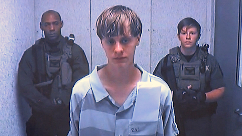 Dylann Roof appears via video before a judge, in Charleston, S.C., on June 19, 2015. (AP)