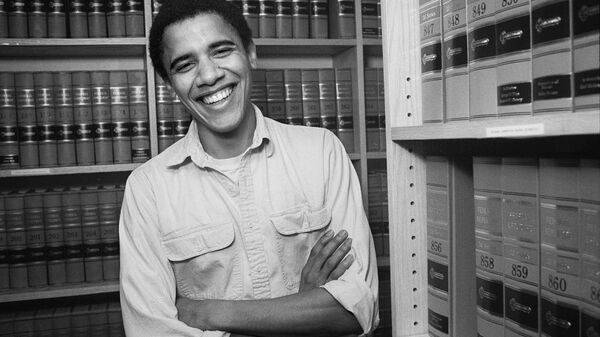 Barack Obama, graduate of Harvard Law School