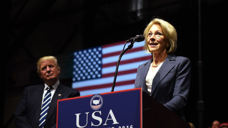 Betsy Devos Trumps Education Pick Has >> Betsy Devos Confirmation Hearing Delayed One Week The Two Way Npr