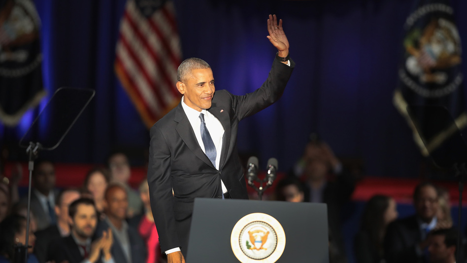 President Obama delivered his farewell speech to the nation from Chicago on Tuesday. (Getty Images)