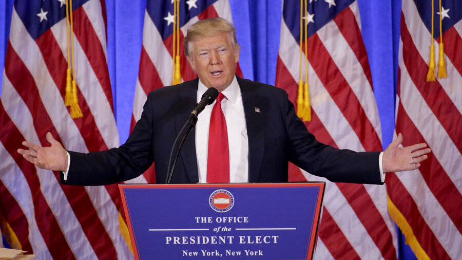 Trump Press Conference: His First As President-Elect With Transcript ...