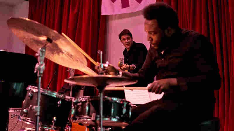 Bassist Ben Allison performs with drummer Allan Mednard at Winter Jazzfest.