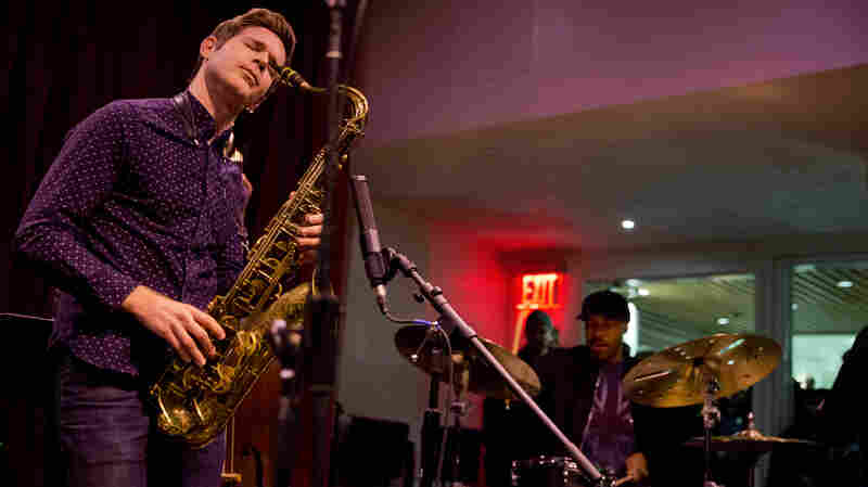 Saxophonist Ben Wendel and drummer Eric Harland perform with the Ben Wendel Seasons Band.