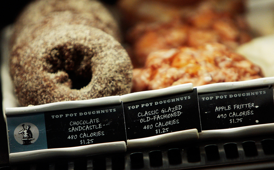 Most restaurants are required to post calorie counts on menus as a result of the Affordable Care Act. The question is whether they help you resist that doughnut. (Chris Hondros/Getty Images)