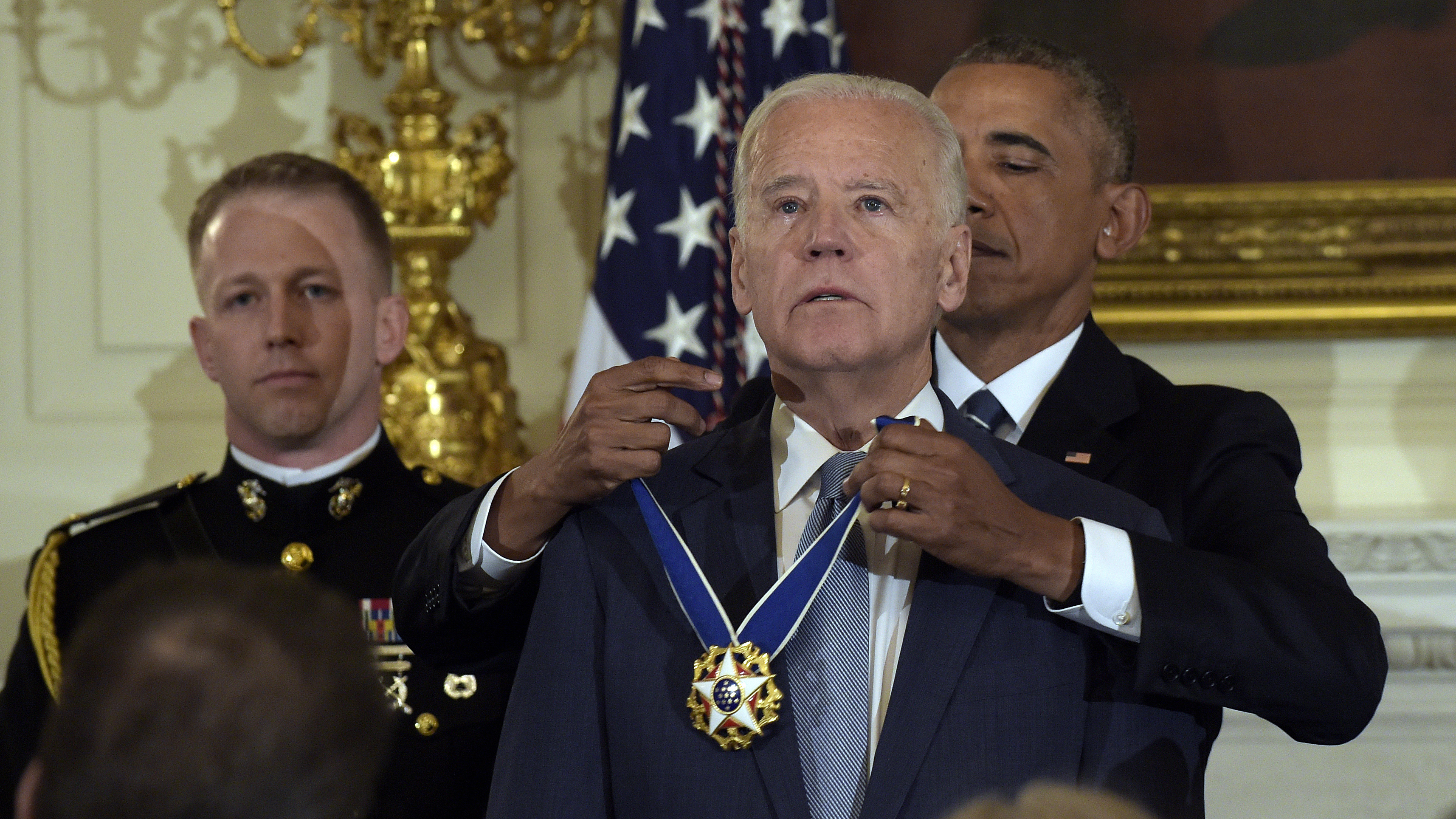 In A Surprise Send-Off, Obama Awards Biden Presidential Medal Of Freedom