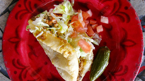 The puffy taco with beef from Rays Drive-In in San Antonio is a standout for Sutter, but the year has just begun.