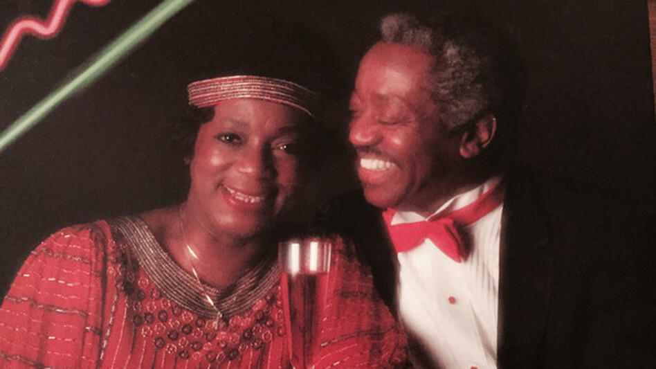 Jeannie Cheatham, pictured here with her husband, bass trombonist Jimmy Cheatham, joined Marian McPartland for this 1989 episode of Piano Jazz. (Courtesy of the artist)