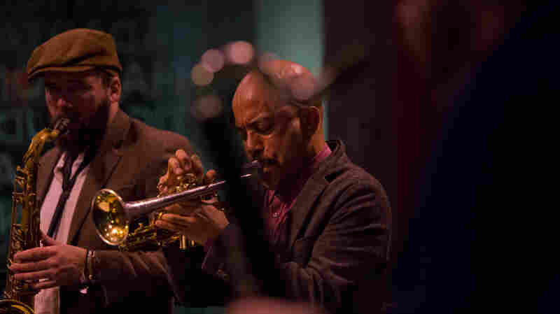 Tenor saxophonist Tim Haldeman and Cornetist Ben Lamar Gay perform with Mike Reed's Flesh & Bone at Winter Jazzfest.