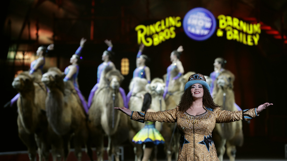 Ringling Bros. and Barnum & Bailey Ringmaster Kristen Michelle Wilson performs Saturday, in Orlando, Fla. (Chris O'Meara/AP)