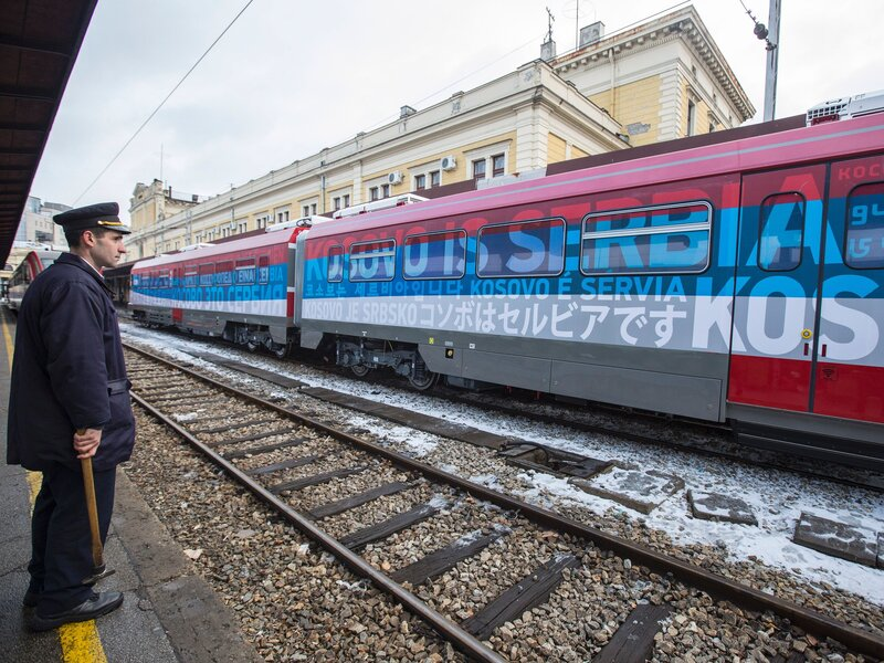 Kosovo, Serbia Exchange Heated Words Over Train Stopped At
