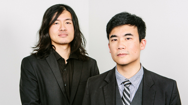 Joe Jiang (left) and Simon Tam of The Slants are in a legal battle at the Supreme Court over their band