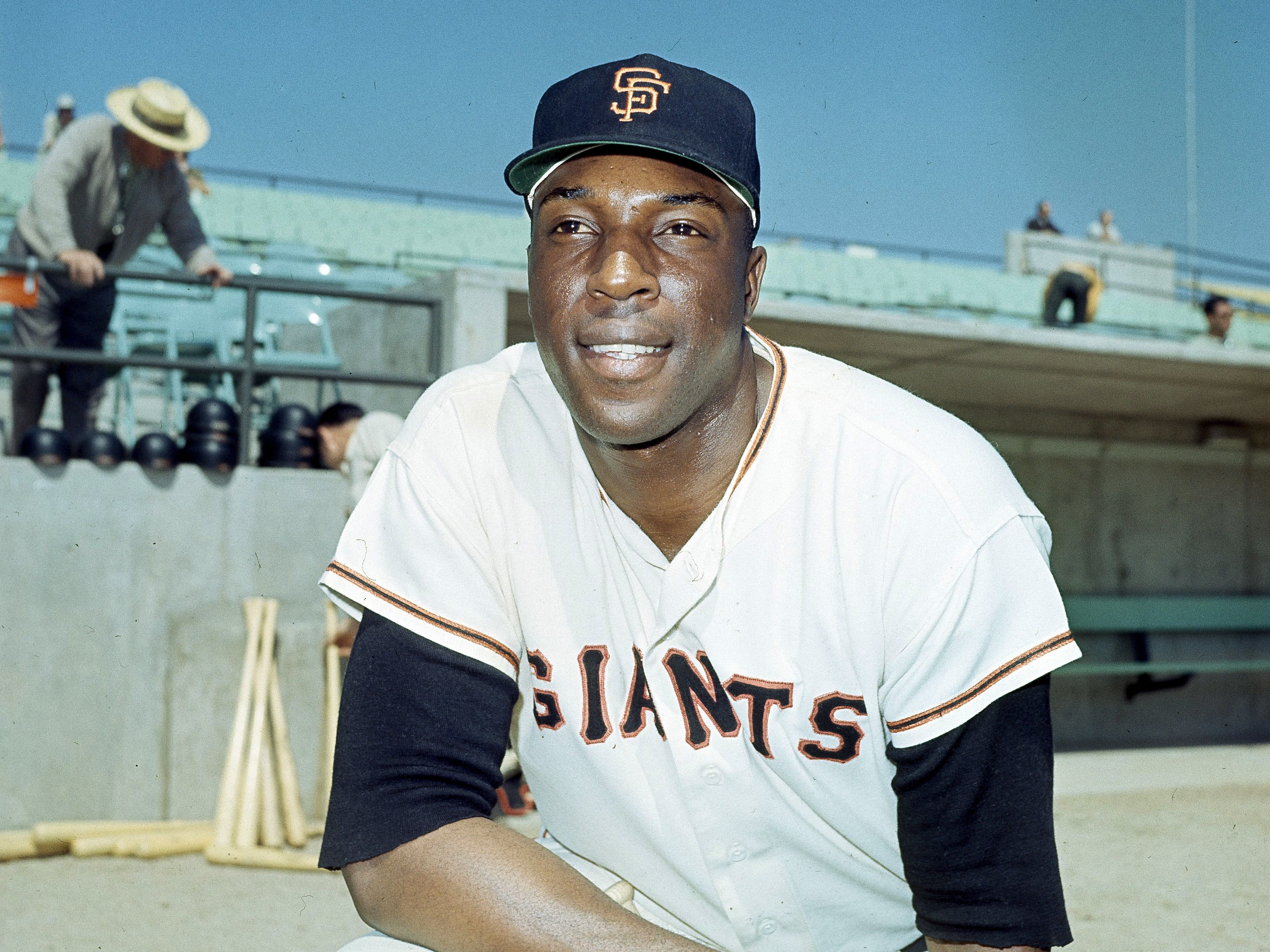 Willie McCovey of the San Francisco Giants pictured in April 1966 near the height of his 21 year career. He pleaded guilty to tax evasion in 1995 and was pardoned by President Obama. AP