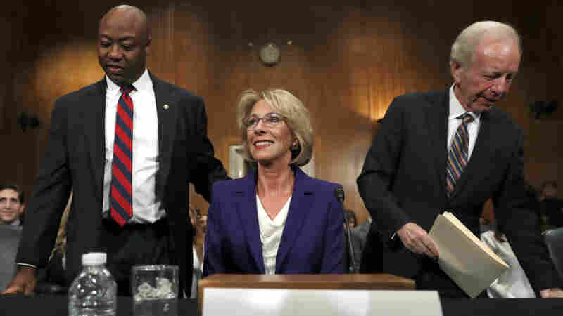 At DeVos' Senate Hearing, Questions Of Choice, Charters, 'Other Options'
