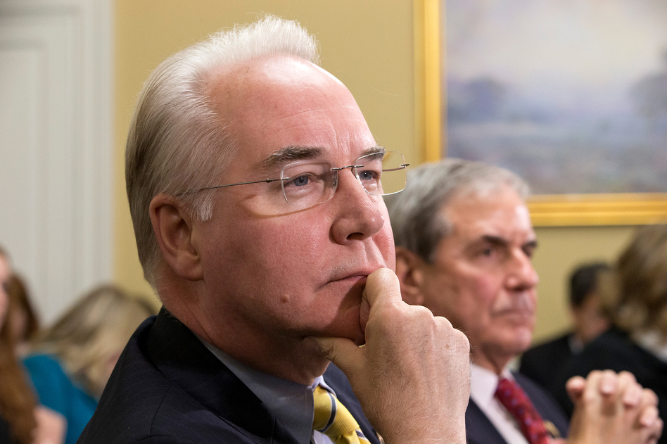 Rep. Tom Price, R-Ga., has said that the Affordable Care Act interferes with physicians' medical decisions. (J. Scott Applewhite/AP)