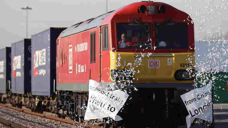 China's First Freight Train To The U.K. Rolls Into London