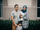 Shabaik with her husband Andrew Li, 2-year-old Elias and newborn Ali.