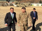 Defense Secretary Ash Carter (left) arrives in Kabul in December with Gen. John Nicholson (center), the top U.S. commander in Afghanistan.
