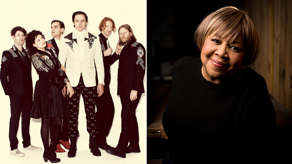 All proceeds from Arcade Fire and Mavis Staples