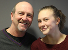John Marboe and his 13-year-old daughter, Charlie, at StoryCorps.