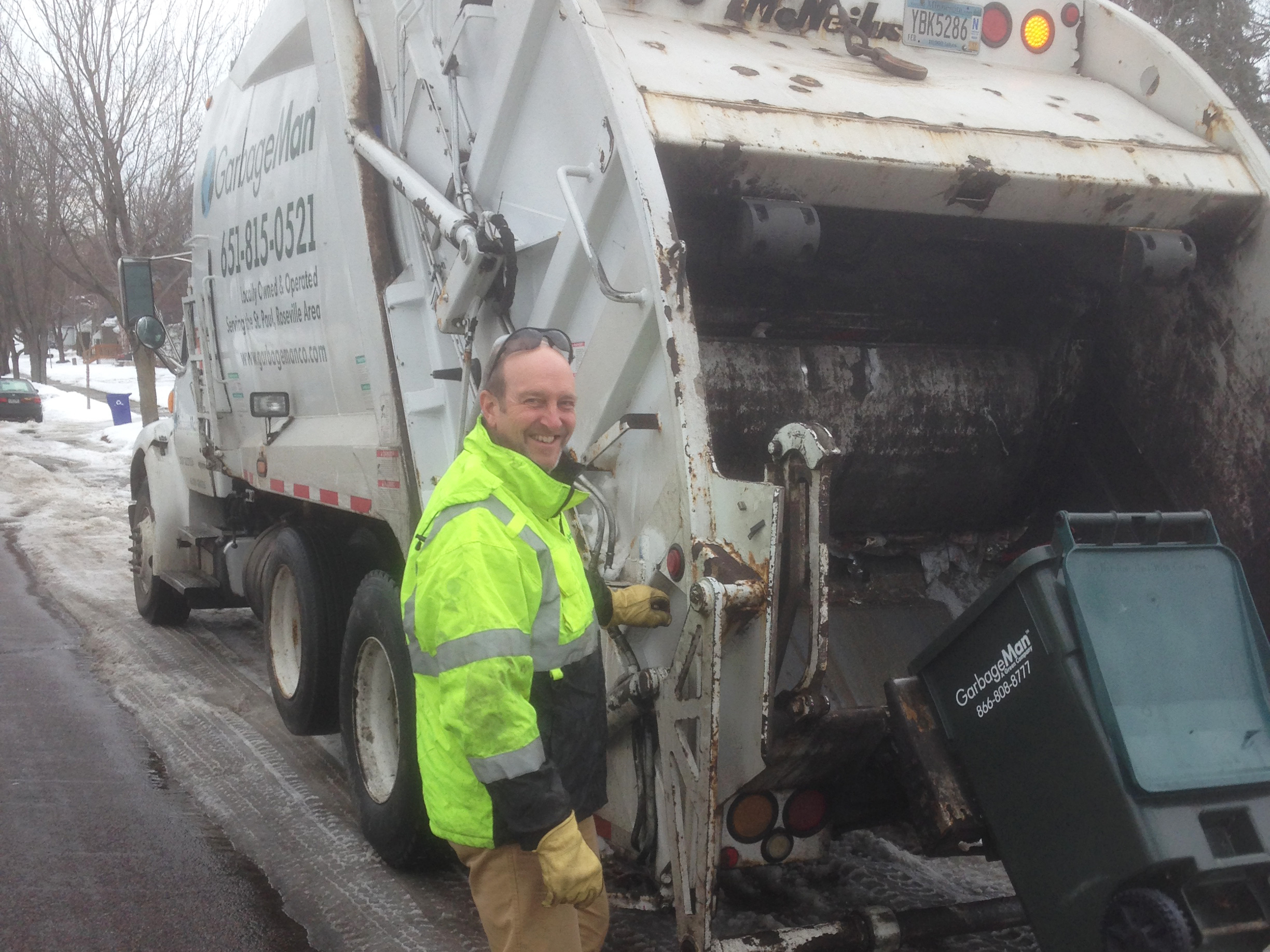 John Marboe is a Lutheran pastor in St. Paul, Minn., and an adjunct professor at the University of Minnesota, but says he keeps hauling trash because it's important. (Courtesy of John Marboe)