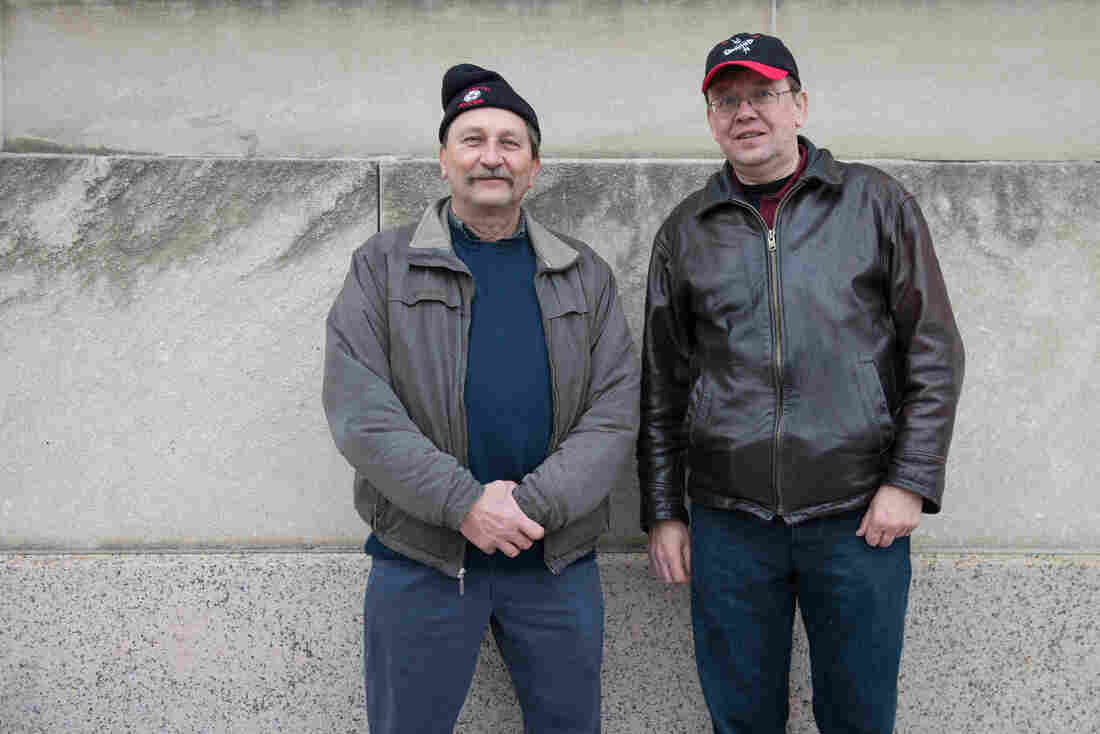 Russell and Wayne Bargiel have attended over five presidential inaugurations. They have no party affiliations, but like to see the festivities.