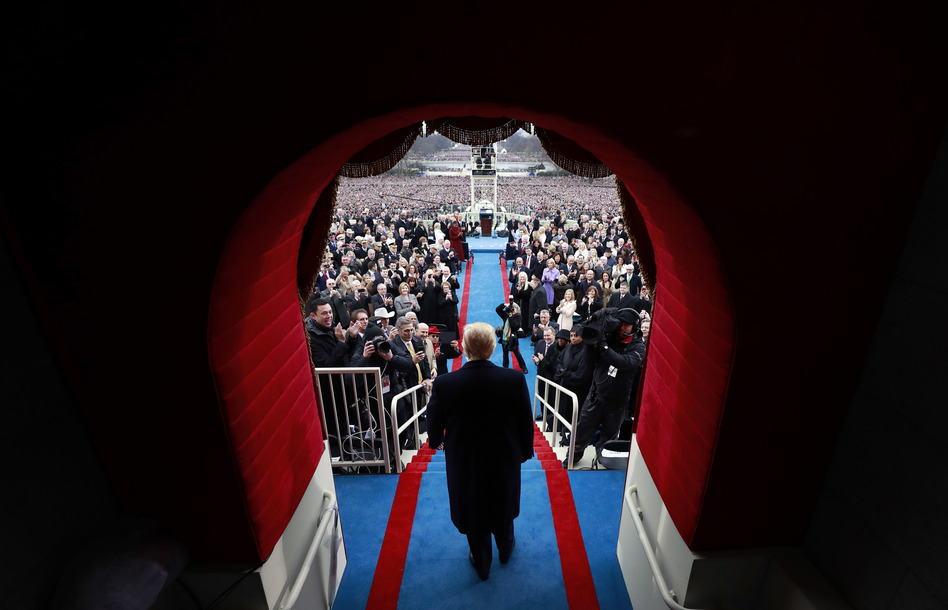 Donald Trump arrives at his inauguration at the Capitol. (Doug Mills/Pool/Getty Images)