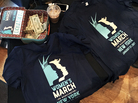 Organizers in New York City collected donations and sold T-shirts for the Women's March on Washington.