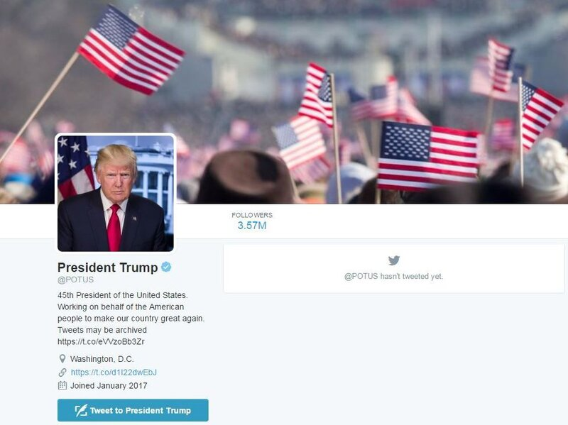 Donald Trump Takes Over Potus Twitter Account From Barack Obama All Tech Considered Npr