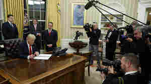 President Trump's First Hours In Office
