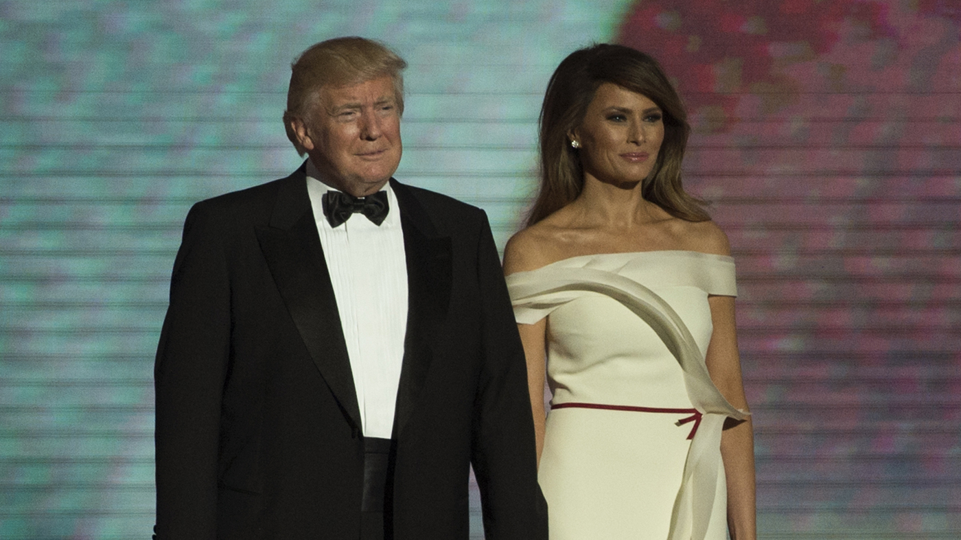 Photos Trump Ends Inauguration Day His Way With Dances At 3 Balls Npr
