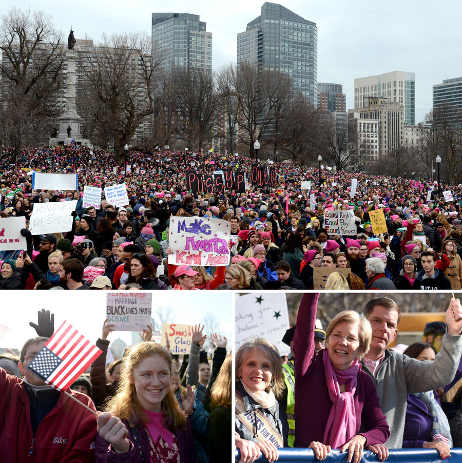 Women will continue to stand up for our rights after march new york daily news - Tens Of Thousands Participated In The Boston Women S March Including Sen Elizabeth Warren And Mayor Marty Walsh Bottom Right Meredith Nierman Wgbh Hide