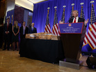 As president-elect, Donald Trump promised to give up legal control of his companies at his Jan. 11 press conference. Next to him was a stack of documents he said would sever his business ties.