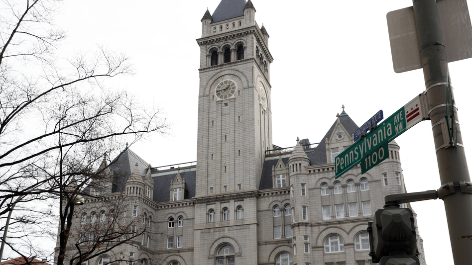 When interests such as the Trump International Hotel in Washington, D.C., take money from foreign governments, it's a potential violation of the Constitution, according to the group that filed the lawsuit. (Alex Brandon/AP)