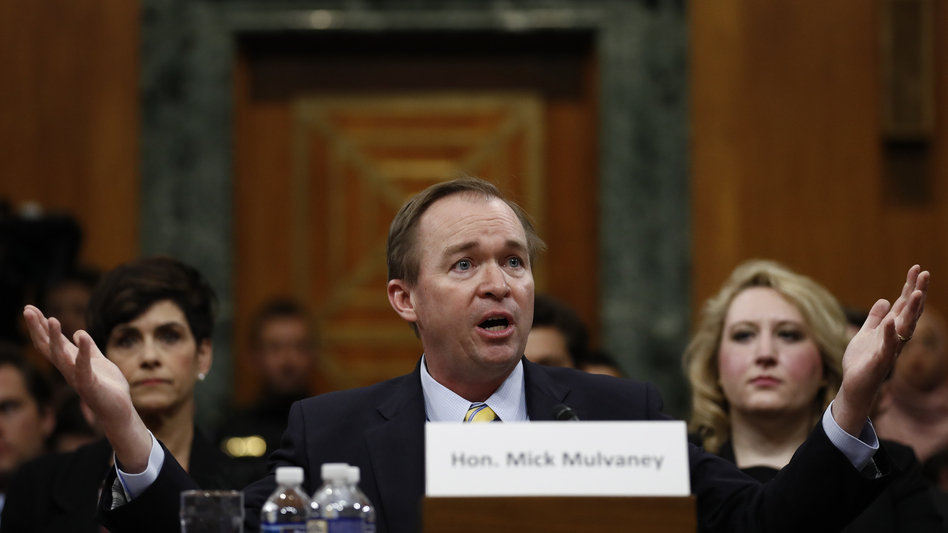 Budget director nominee Rep. Mick Mulvaney, R-S.C., testifies on Capitol Hill on Tuesday. (Carolyn Kaster/AP)