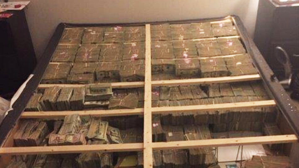 Image result for mattress filled with cash