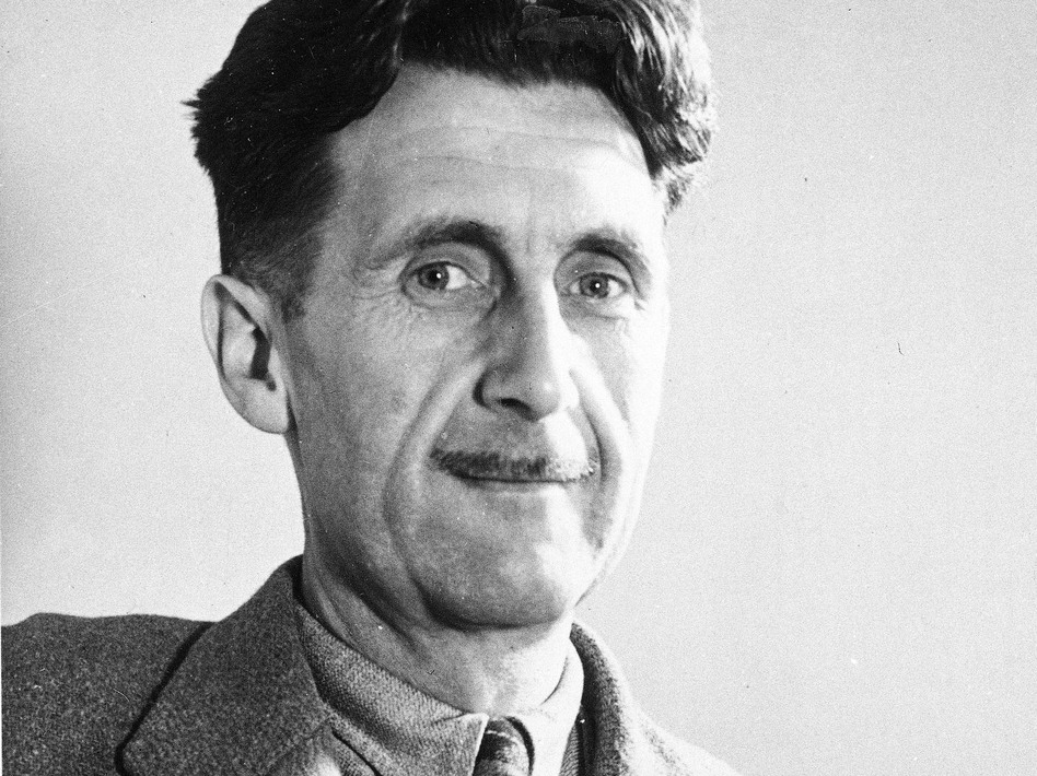 Writer George Orwell, author of the novel <em>1984</em>, which portrays a dictatorship that imposes its own facts. (Uncredited/AP)