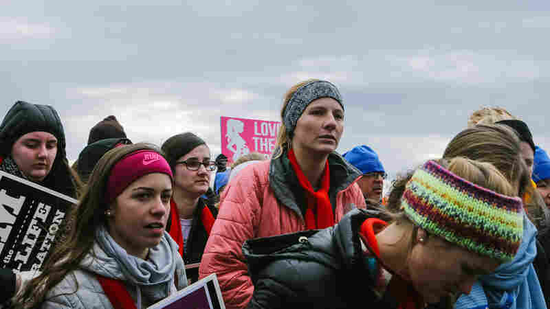 Anti-Abortion Rights, But Not Necessarily Pro-Trump At March For Life
