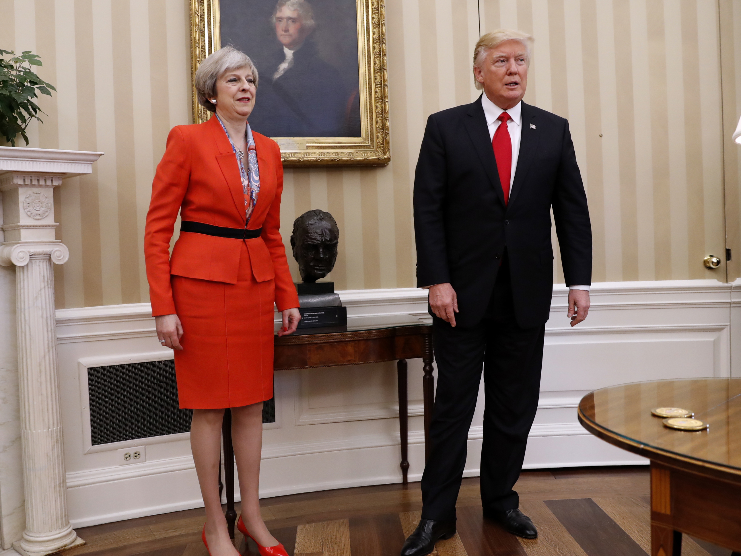 In Meeting With Trump, U.K. Prime Minister Pushes For Future Trade Deal
