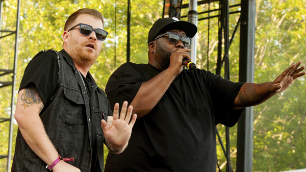 El-P (left) and Killer Mike perform at the Pitchfork Music Festival in Chicago in July 2015.