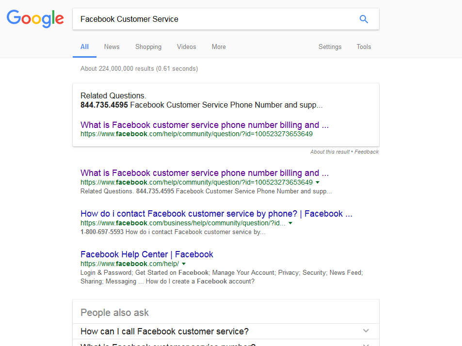 don t fall for this facebook customer service scam all tech