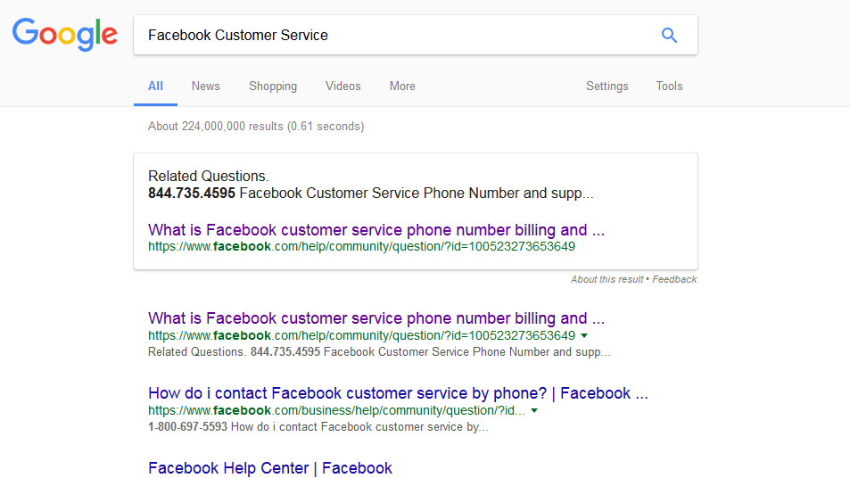 Don't Fall For This 'Facebook Customer Service' Scam : All Tech ...