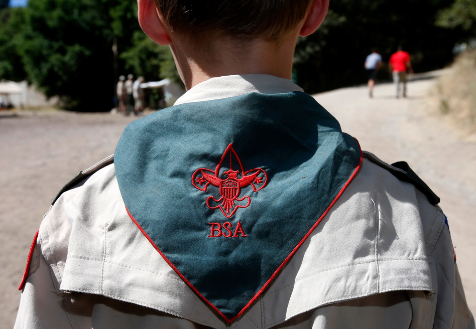 A Boy Scout listens to instruction at Camp Maple Dell in Utah. (George Frey/Getty Images)