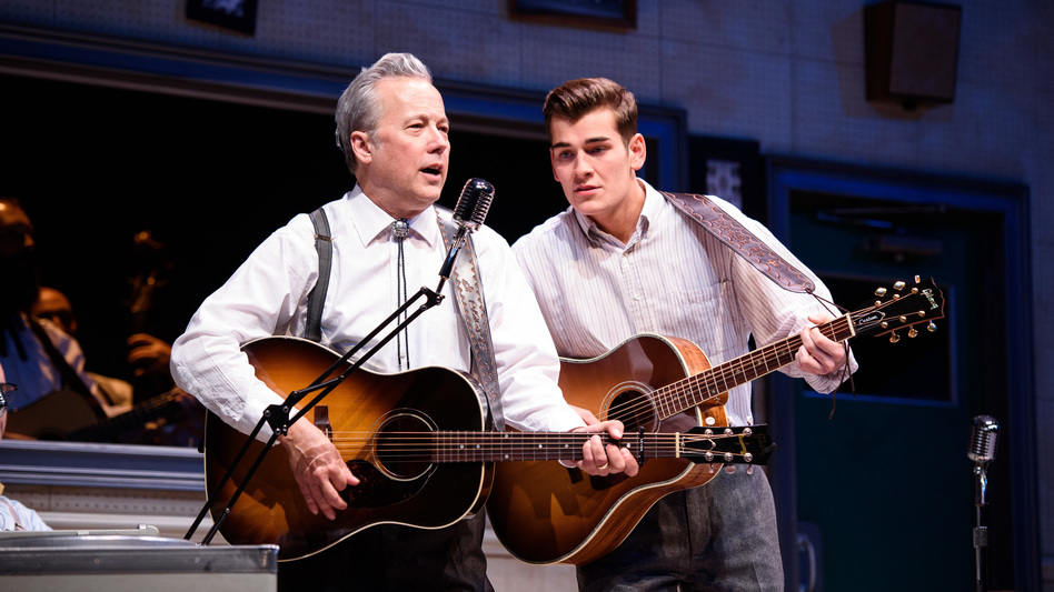 Radney Foster (left) and  Zach Seabaugh star in the Alliance Theatre's production of <em>Troubadour</em>.