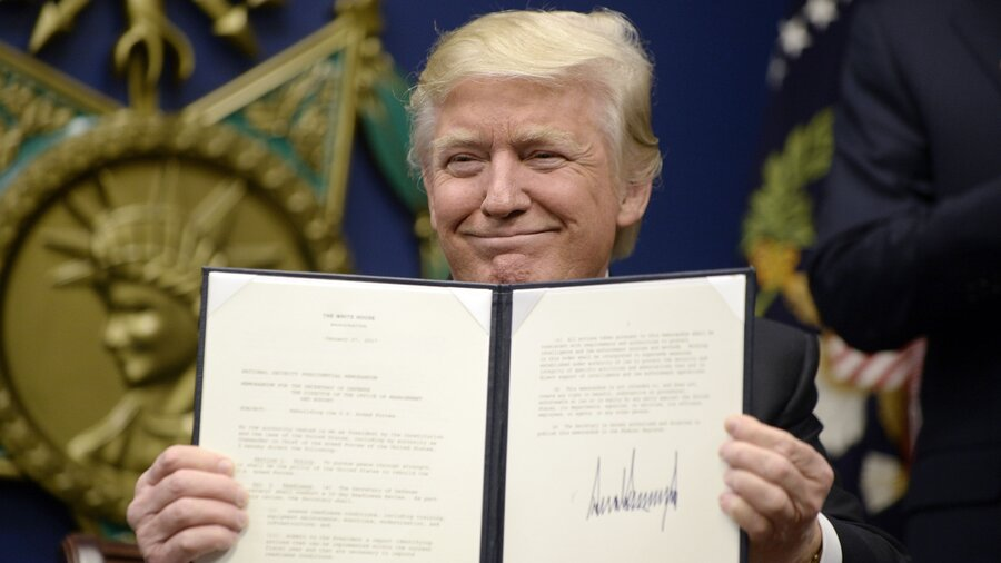 Image result for trump exec order