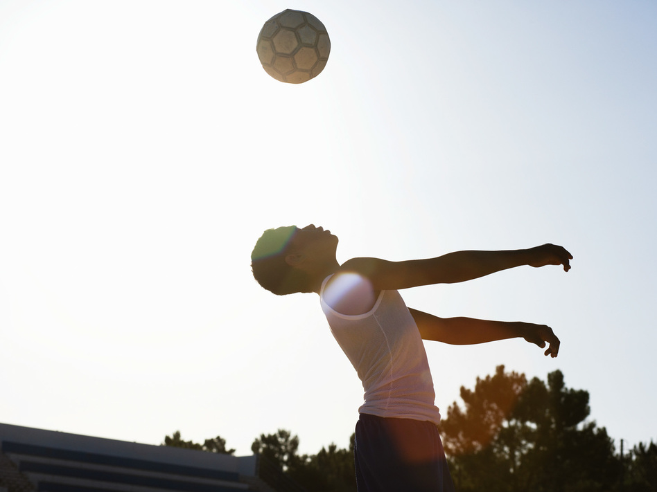 Players who headed a lot of balls — an average of 124 in two weeks — were three times more likely to get a concussion compared to soccer players who rarely headed. (Roger Weber/Getty Images)
