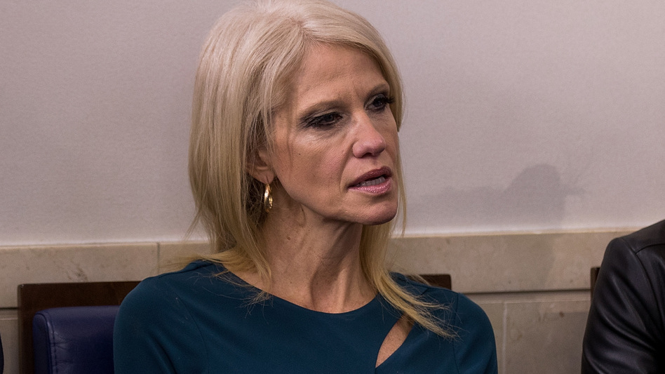 Kellyanne Conway, a member of President Trump's senior White House team, is being ridiculed for making a false claim about Iraqi refugees. (Drew Angerer/Getty Images)